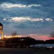 photo of Memorial Bridge and clock-tower in Palatka, Florida