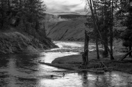 photo of Firehole River at dusk, Yellowstone National Park
