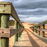 photo of beach access ramp at Flagler Beach, Florida