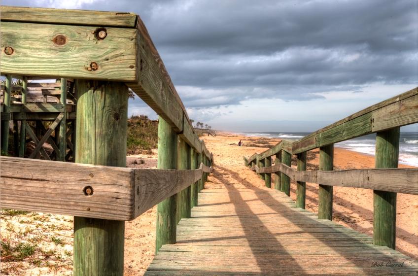 photo of beach access ramp at Flagler Beach, Florida