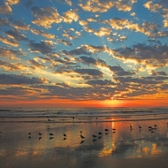 photo of Daytona Beach at sunrise
