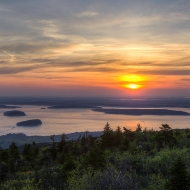 photo of Sunrise taken from top of Cadillac Mountain, Acadia National Park, ME
