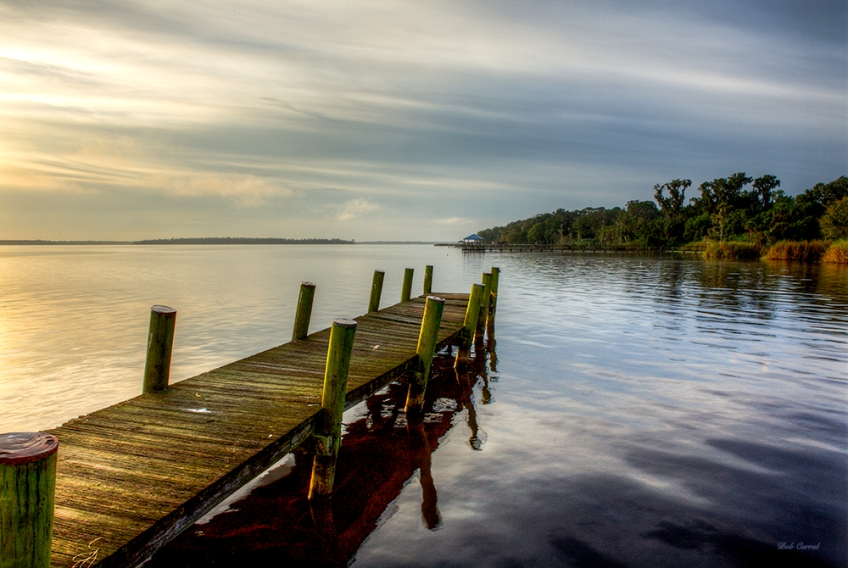 photo of dock in Crescent Lake, Crescent City, Florida