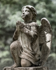 photo of tombstone Angel