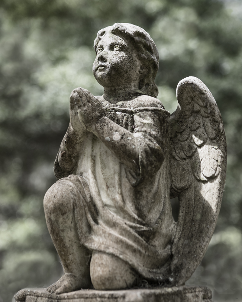 photo of tombstone Angel