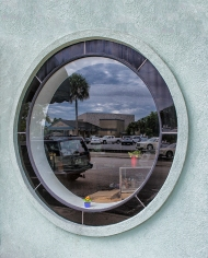 Photograph, Relections in a window, along St Johns Avenue, Palatka, FL