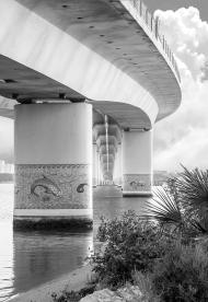 Photo underneath the International Speedway Bridge